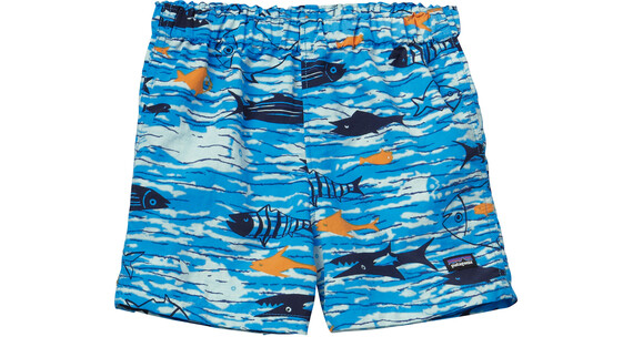 Patagonia Baby Baggies Shorts Fishy Fun: Electron Blue
